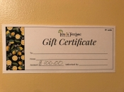 a $100 Gift Certificate