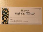 d $25 Gift Certificate