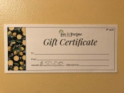c $50 Gift Certificate